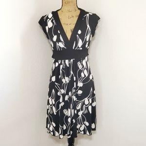 Speechless• Black & white floral print dress•Med